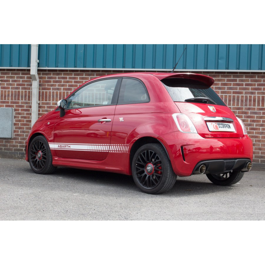 Fiat 500/595 Abarth (IHI Turbo) Scorpion Exhausts Cat Back None Resonated - Car Enhancements UK