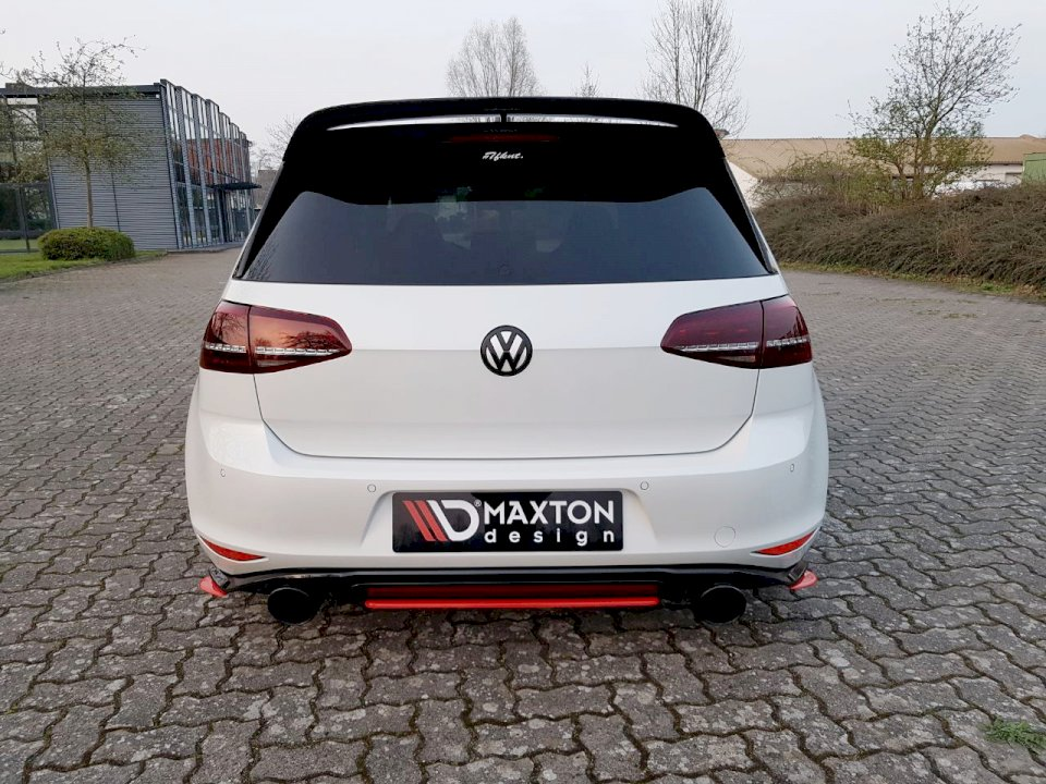 Central Rear Splitter VW GOLF MK7 GTI Clubsport (2016-2017) - Car Enhancements UK