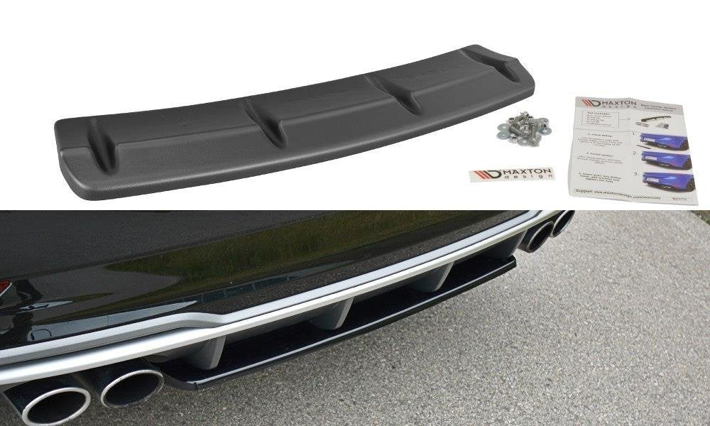 CENTRAL REAR SPLITTER AUDI S3 8V FL HATCHBACK / SPORTBACK / SEDAN - Car Enhancements UK