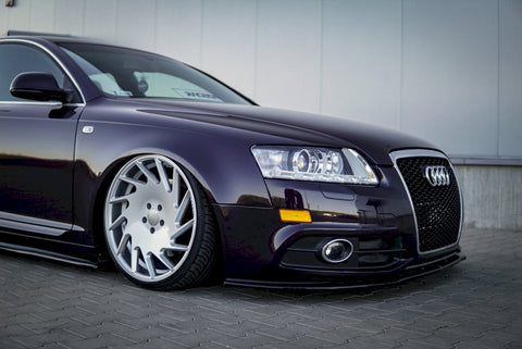 FRONT SPLITTER AUDI A6 C6 S-LINE FACELIFT SEDAN (2008-2011) - Car Enhancements UK