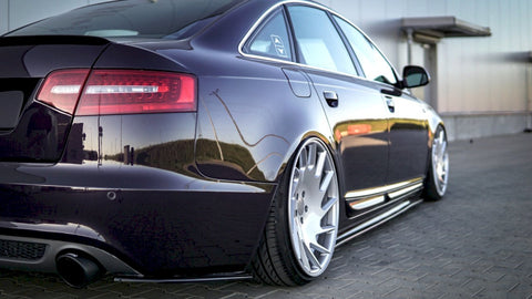REAR SIDE SPLITTERS AUDI A6 C6 S-LINE FACELIFT SEDAN (2008-2011) - Car Enhancements UK