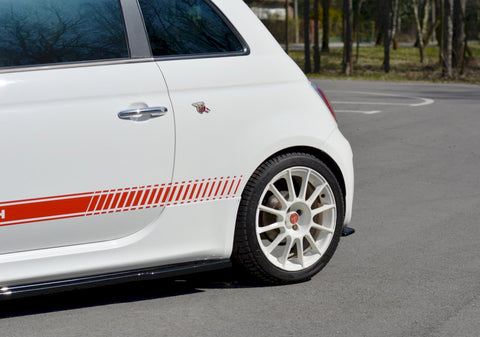 REAR SIDE SPLITTERS FIAT 500 ABARTH MK1 (2008-2012) - Car Enhancements UK
