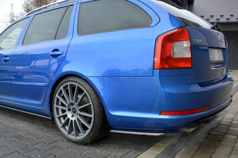 REAR SIDE SPLITTERS SKODA OCTAVIA MK2 VRS ESTATE FACELIFT (2008-2013) - Car Enhancements UK