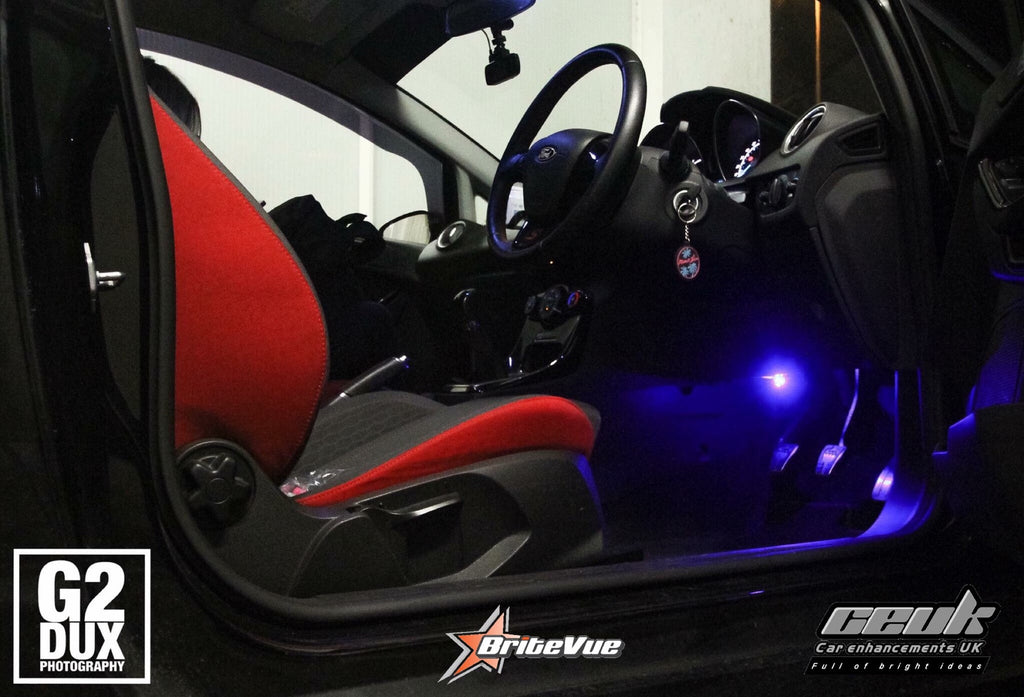 BriteVue 501 Footwell Bulbs - Blue - Car Enhancements UK