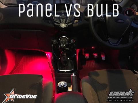 BriteVue 36SMD coloured Footwell Panels - Car Enhancements UK