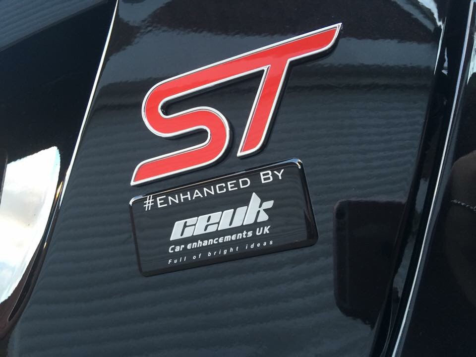 #Enhanced CEUK Gel Dome Sticker - Car Enhancements UK