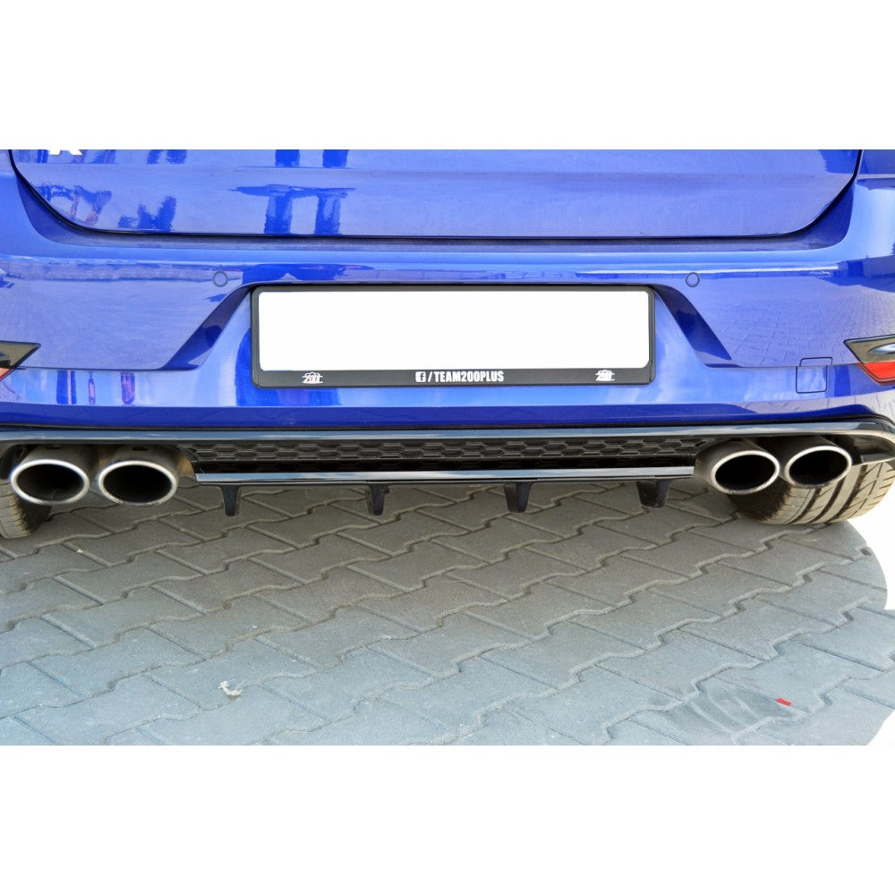 CENTRAL REAR SPLITTER VW GOLF VII R (FACELIFT) - Car Enhancements UK