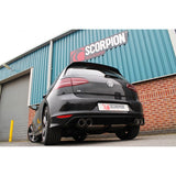 MK7 Golf R (Pre Facelift) Scorpion Cat Back - Resonated WITHOUT Valve - Car Enhancements UK