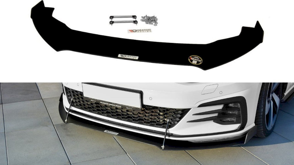 Front Racing Splitter V.2 VW GOLF GTI 7.5 (2017-19) - Car Enhancements UK