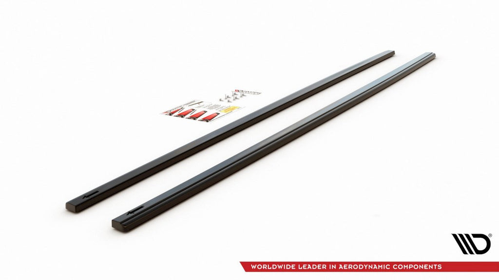 Side Skirts Diffusers V2 VW GOLF 7 Pre Facelift GTI (2013-2016) - Car Enhancements UK