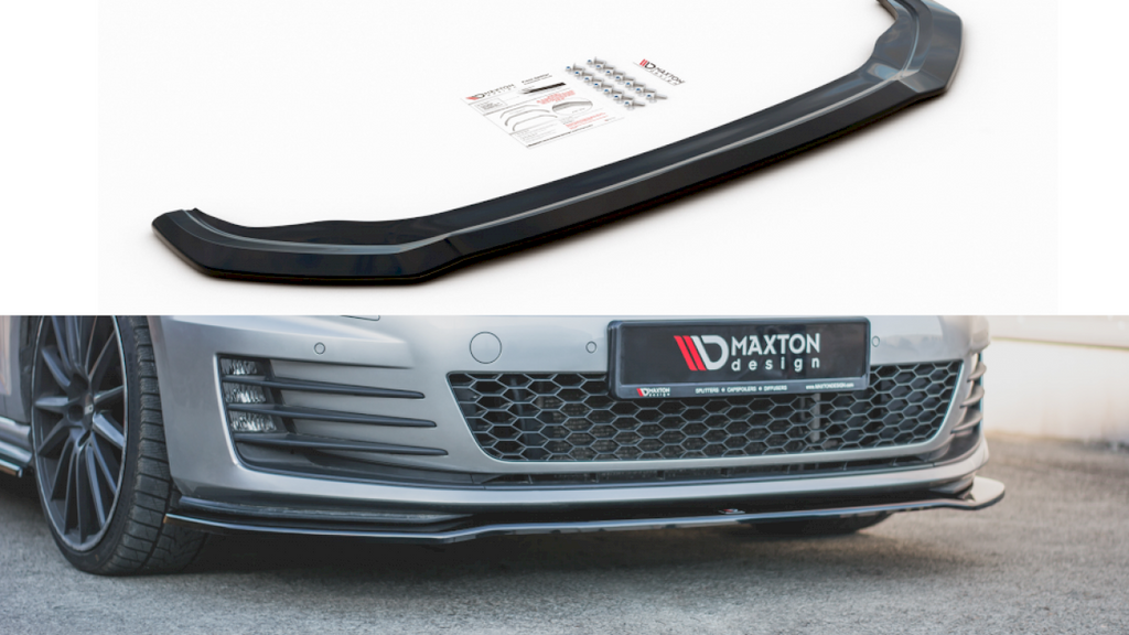 Front Splitter V4 VW GOLF 7 Pre Facelift GTI (2013-2016) - Car Enhancements UK