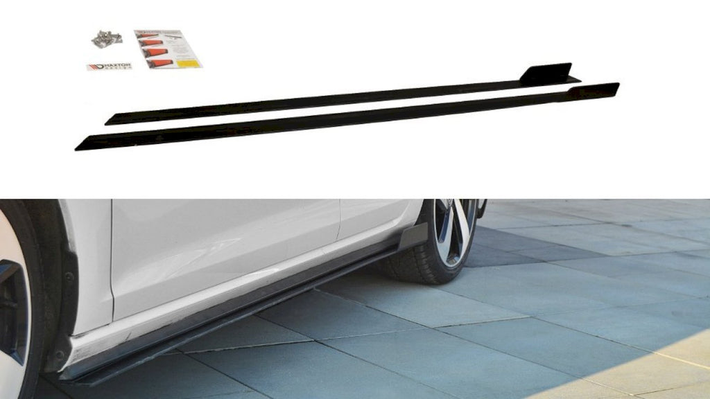 Racing Side Skirts Diffusers VW GOLF GTI 7.5 (2017-19) - Car Enhancements UK