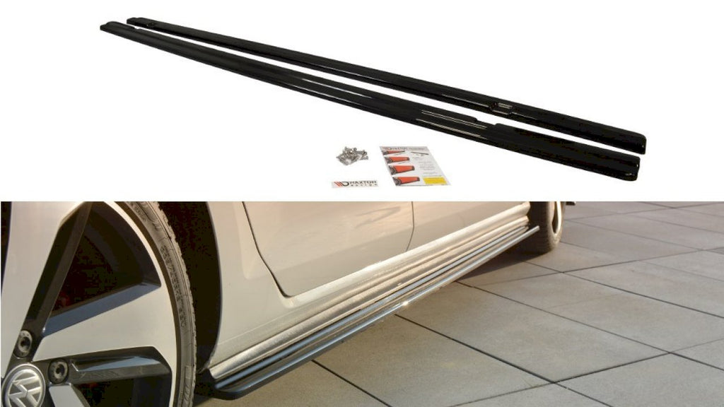Side Skirts Diffusers VW GOLF GTI 7.5 (2017-20) - Car Enhancements UK