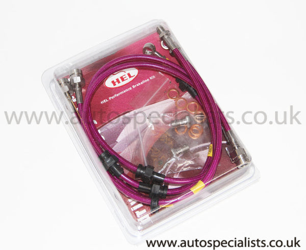 HEL Peformance Uprated Brake Lines - in 12 Different Colours to Match Your Car