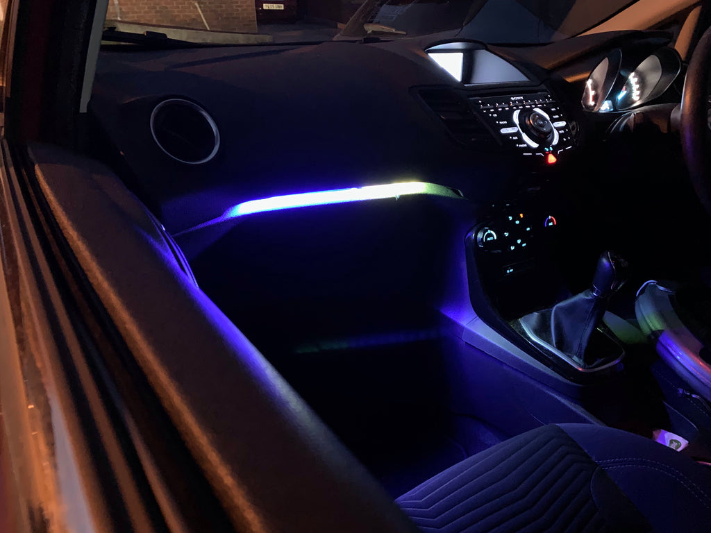 Chaser Edition RGB Glove Box and Footwell Kit - MK7 Fiesta - Car Enhancements UK
