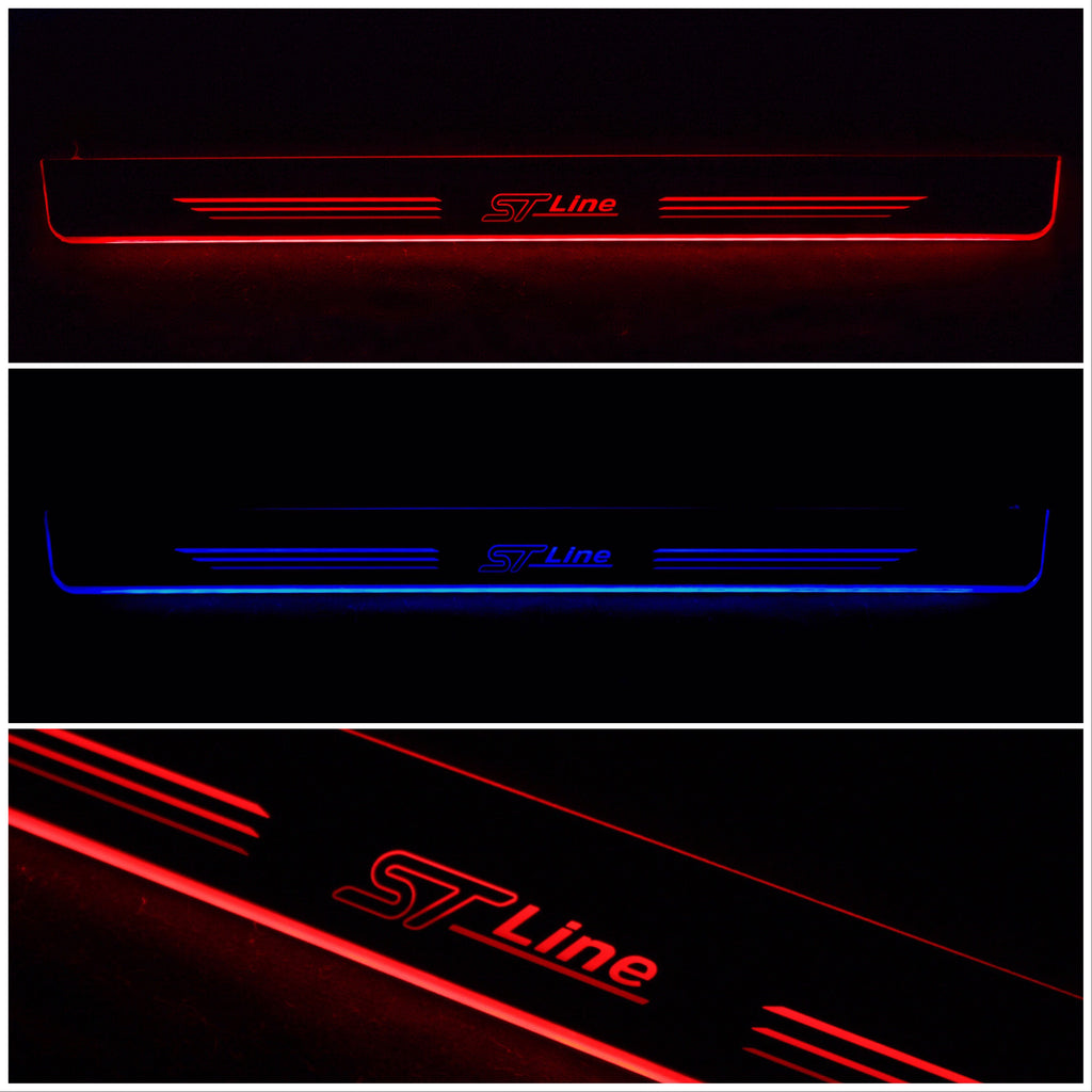 #Enhanced illuminated Door Sill Protectors - ST Line Edition - Car Enhancements UK