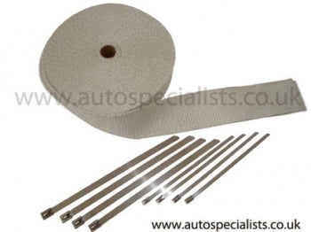 High Temperature White Exhaust Wrap