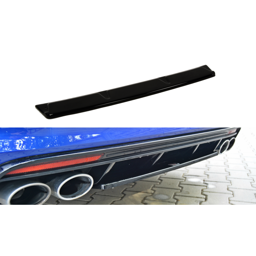 Maxton Design Golf R MK7 Estate (WITHOUT VERTICAL BAR) (2013-2016) Central Rear Splitter - Car Enhancements UK