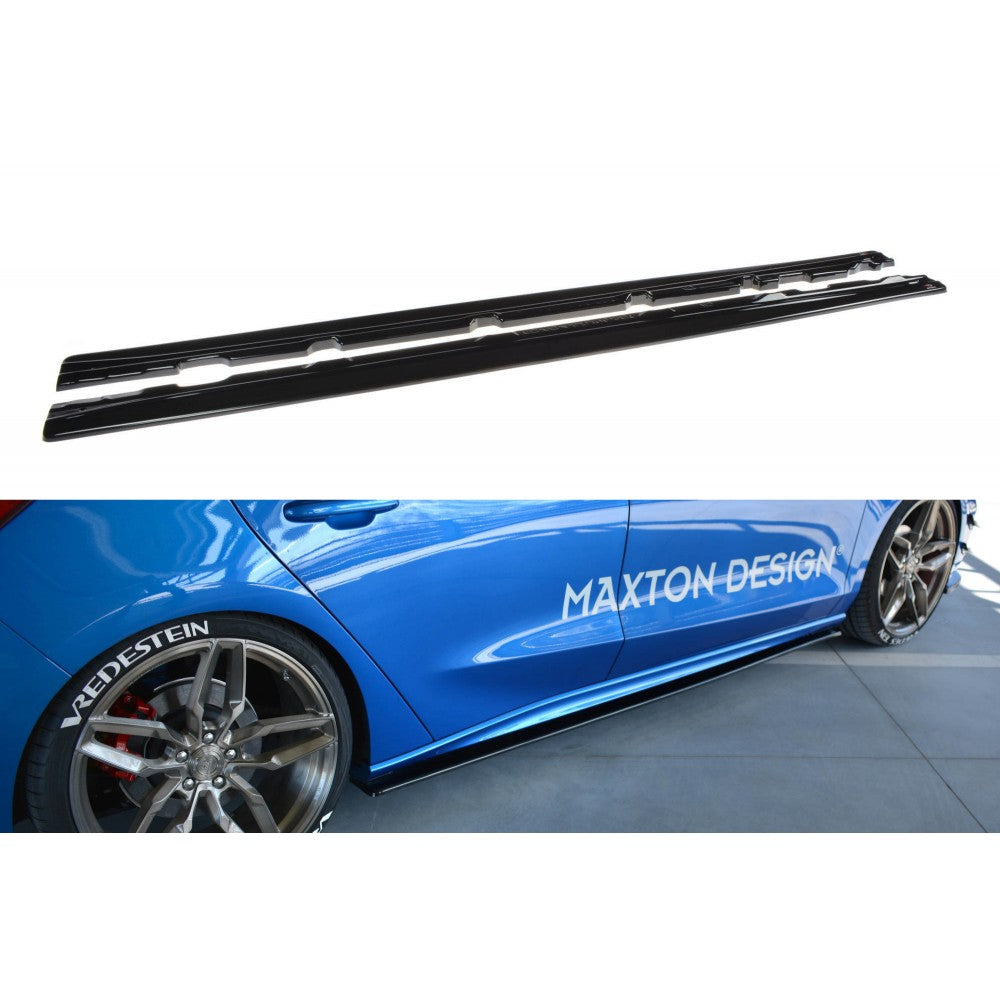 Maxton Design Ford Focus MK4-ST Line (2018-UP) side skirt splitters