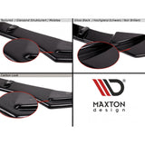 Maxton Design VW Golf R MK7 WITH VERTICAL BARS (2013-2016) Central Rear Splitter - Car Enhancements UK