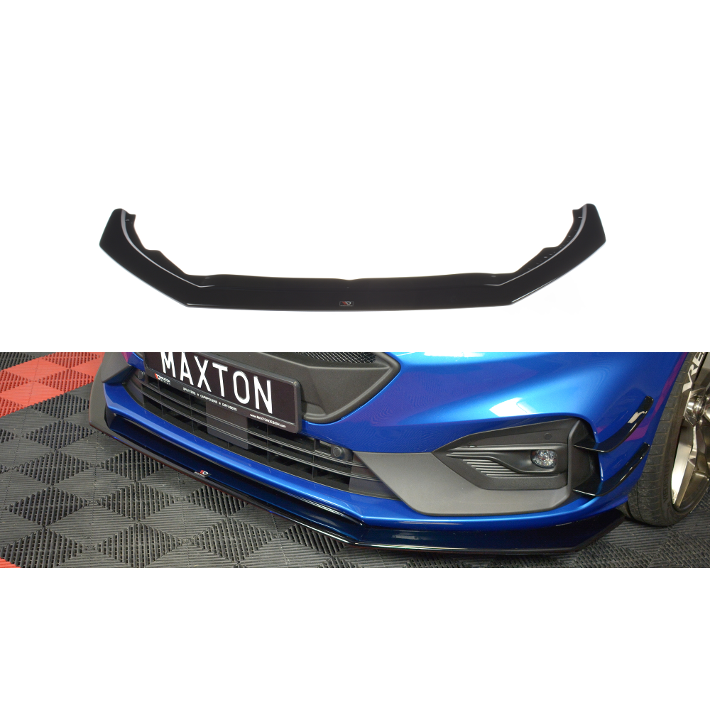 Maxton Design Ford focus MK4 ST-Line (2018-UP) Front splitter V.6