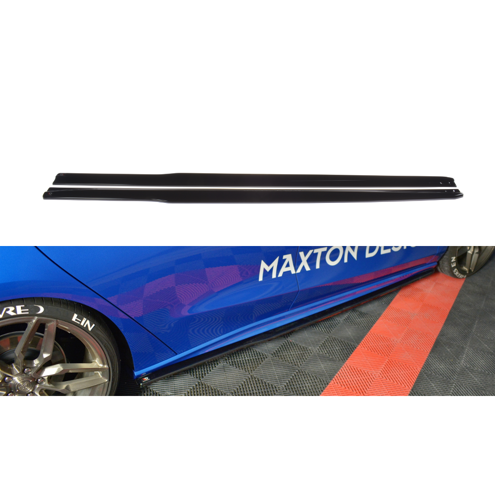 Maxton Design Ford Focus MK4 ST-Line (2018-UP) side skirt diffusers V.3 - Car Enhancements UK