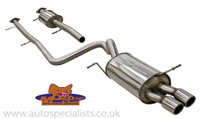 Mongoose cat back exhaust 1.6 litre ZETEC S - Resonated and Non Resonated available
