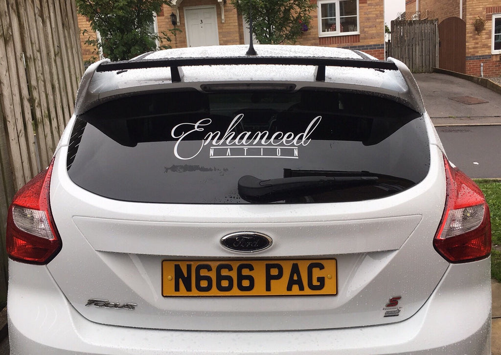 Enhanced Nation rear windscreen sticker - Car Enhancements UK