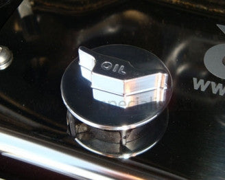 Polished Oil filler cap with raised oil can logo - ST, Zetec & Zetec -S Petrol models