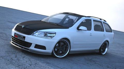 FRONT SPLITTER OCTAVIA 2 FACELIFT MODEL, STANDARD BUMPER - Car Enhancements UK