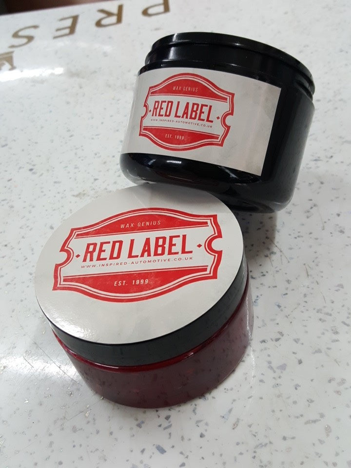 Red Label Hard Wax 200ml - Car Enhancements UK