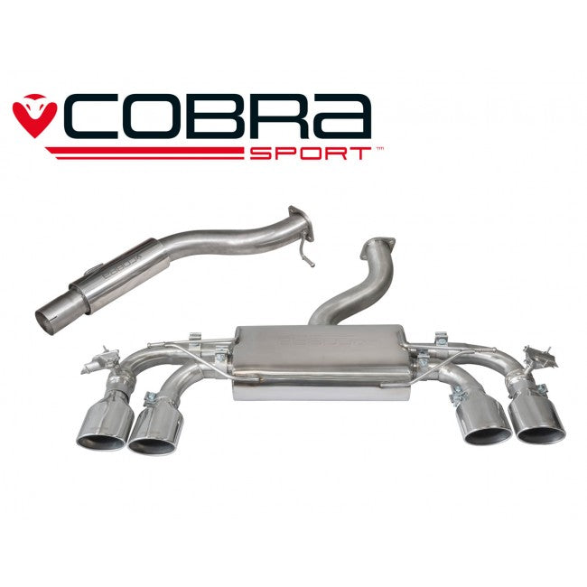 Cobra Sport MK7 Golf R Cat Back Exhaust - With Valve / Resonated (Pre Facelift) - Car Enhancements UK