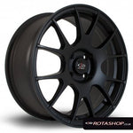 "Rota Blitz 17"" 7.5"" 4x108mm ET45 Flat Black - Car Enhancements UK"
