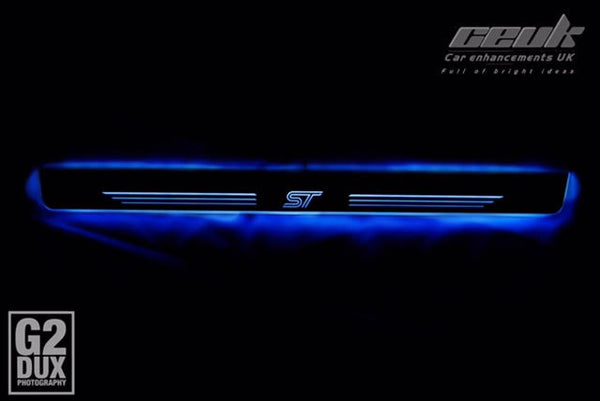 #Enhanced Illuminated Door Sill Protectors - ST Spec - Car Enhancements UK