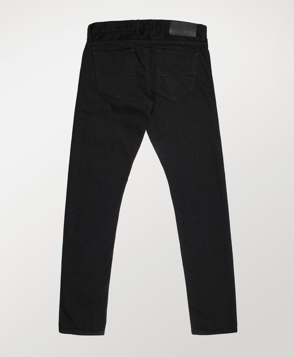 Mill Row - Rinse Stretch Black Denim Jeans