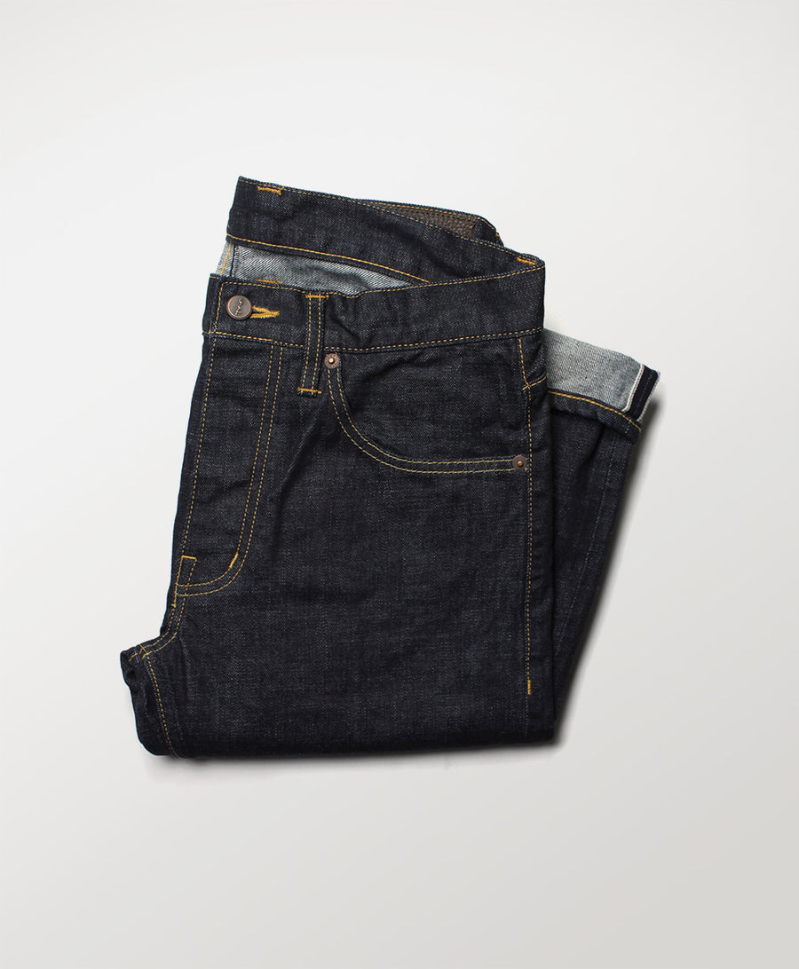 Mill Row - Rinse Stretch Indigo Denim Jeans