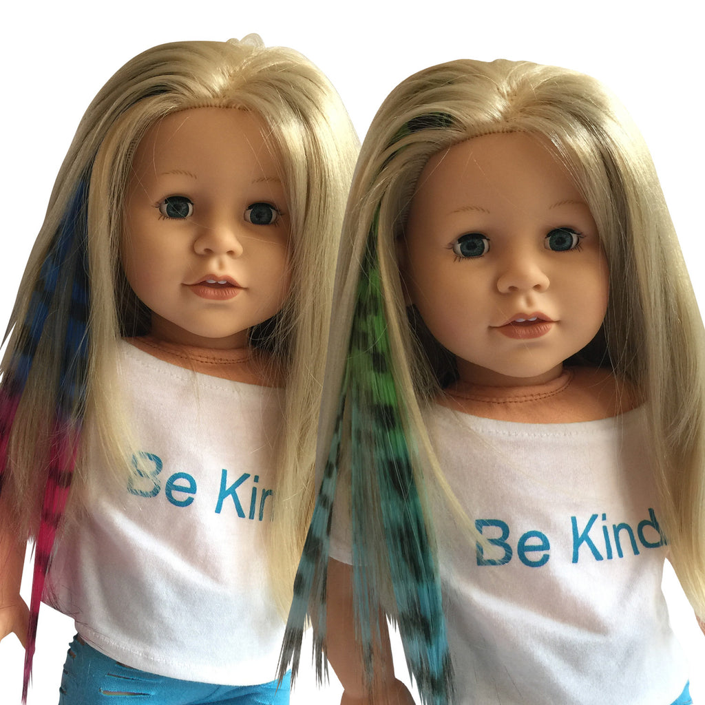 Clip in Hair Extensions Zebra Print Blue\Pink and Green\Blue