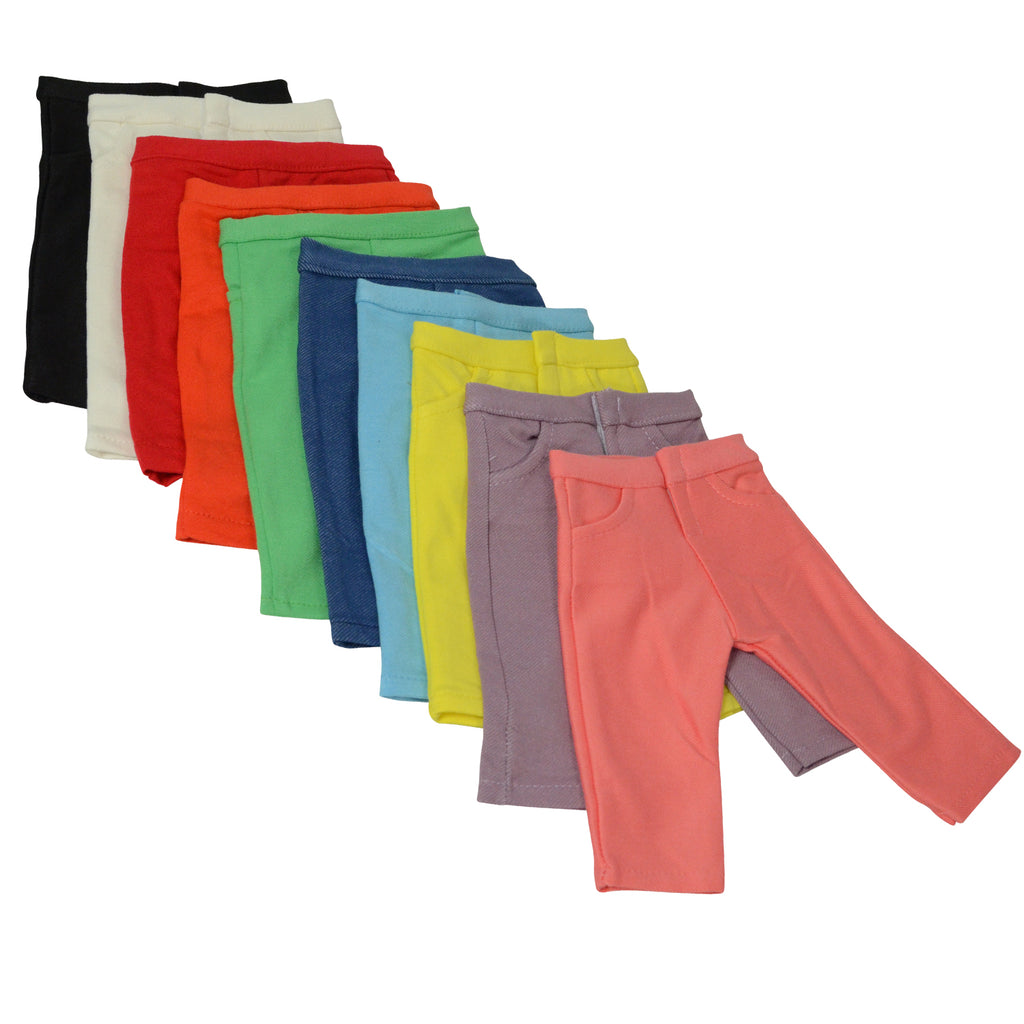 Solid Color Jeans set of 10