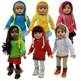 Set of 6 Doll Hoodie Sweatshirts
