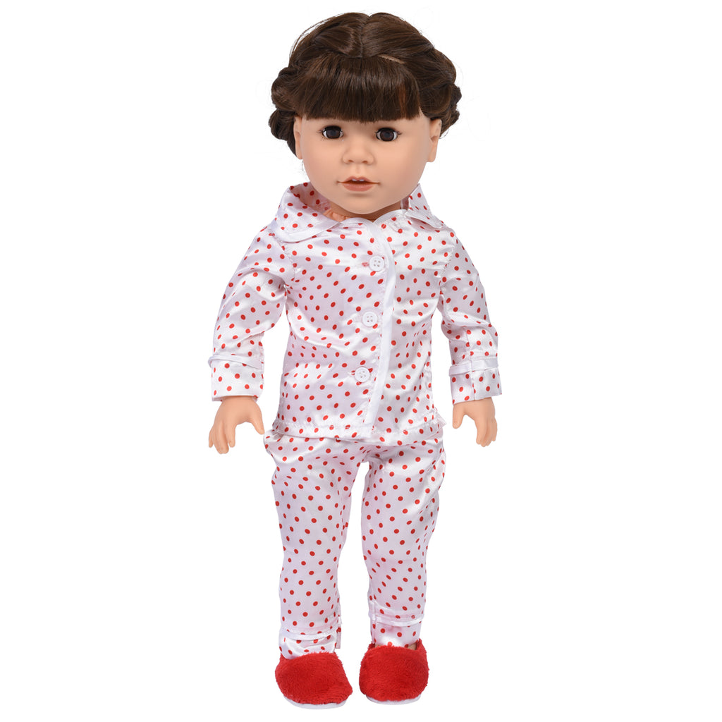 Polka Dot Pajamas with Slippers