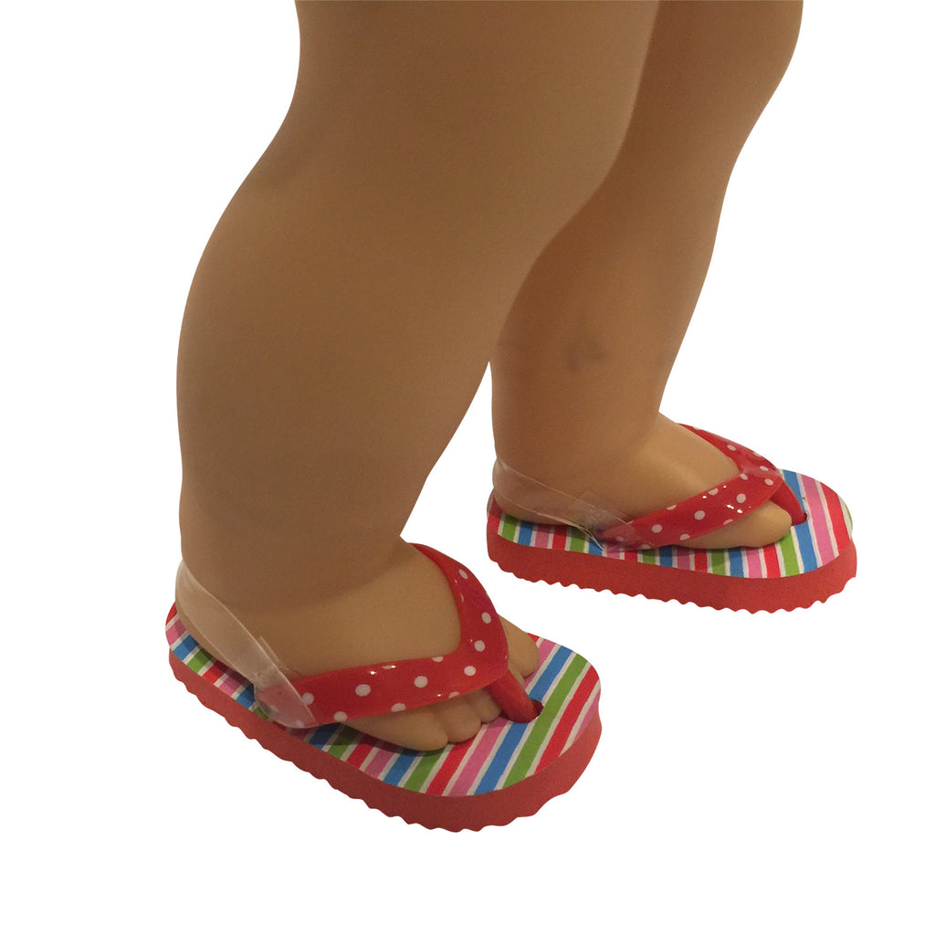 Flip Flops Red Polka Dot