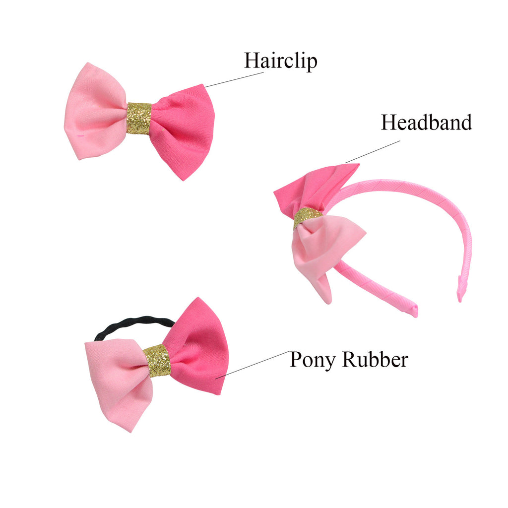 Pink Hair accessory set of 3