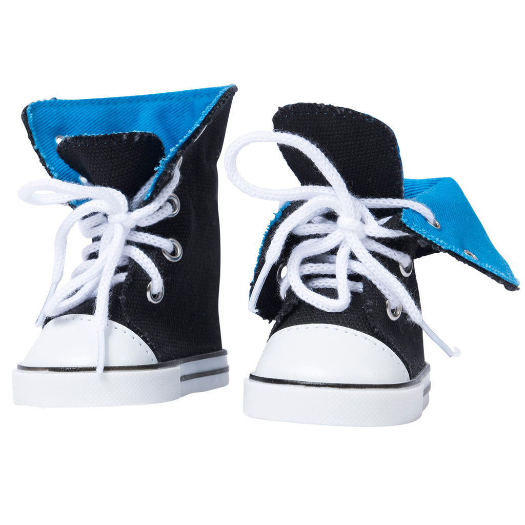 Canvas Hightop Sneakers - Blue