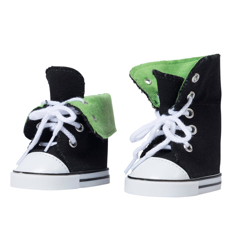 Canvas Hightops Sneakers - Green