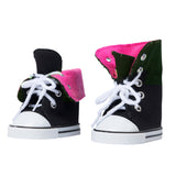 Canvas Hightop Sneakers - Pink