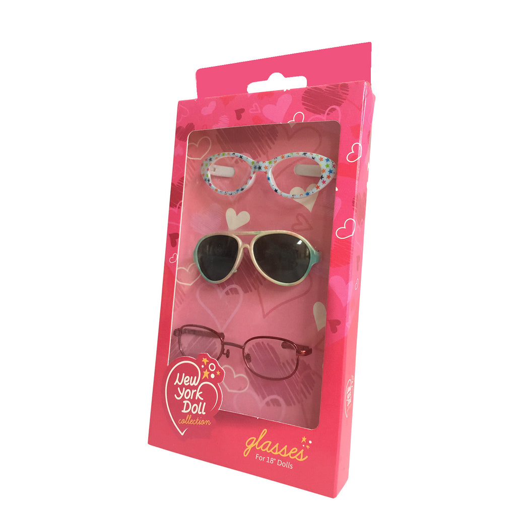 Set of 3 Doll Glasses in Box