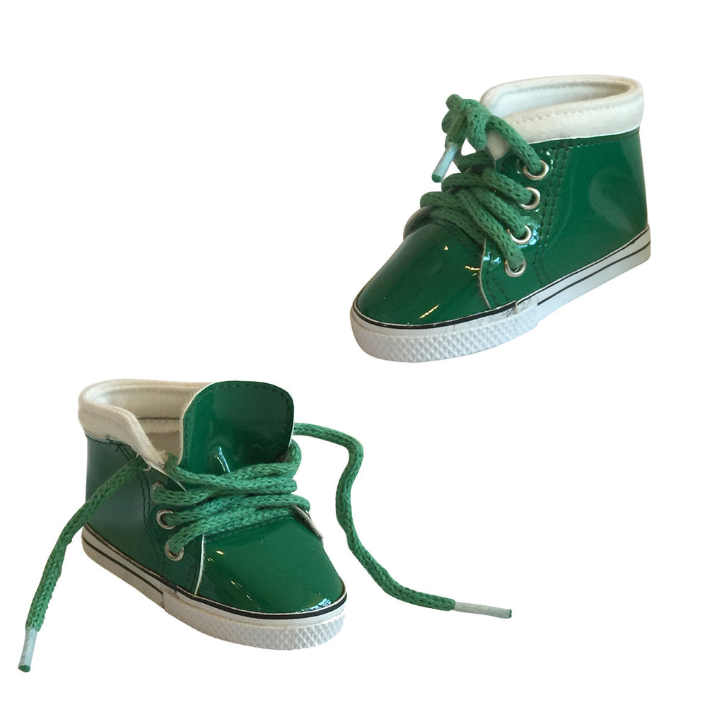 Shiny Leather Sneakers – Green