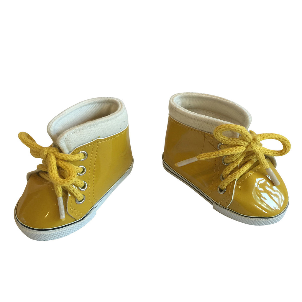 Shiny Leather Sneakers – Yellow
