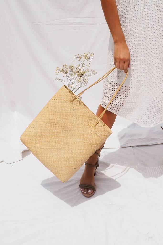 THE BEACH PLEASE RATTAN BAG - You.