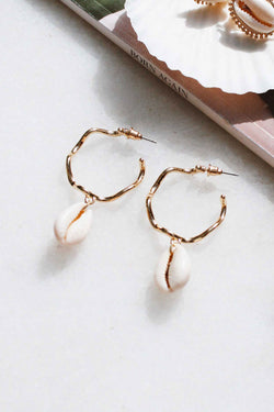 THE SHELL DROP EARRINGS - You.